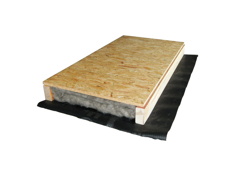 Natural insulating felt and panel for sustainable building PRONTOMAT by EDILANA