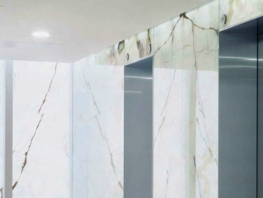 Composite glass with a layer of natural stone FLOATSTONE by Glassolutions