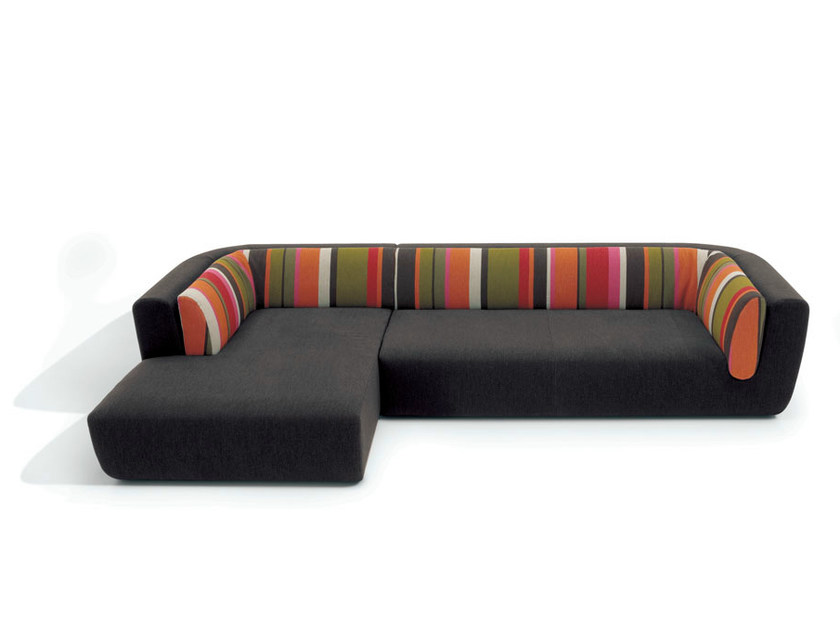 Sectional sofa with removable cover INNTIL | Sectional sofa by MissoniHome