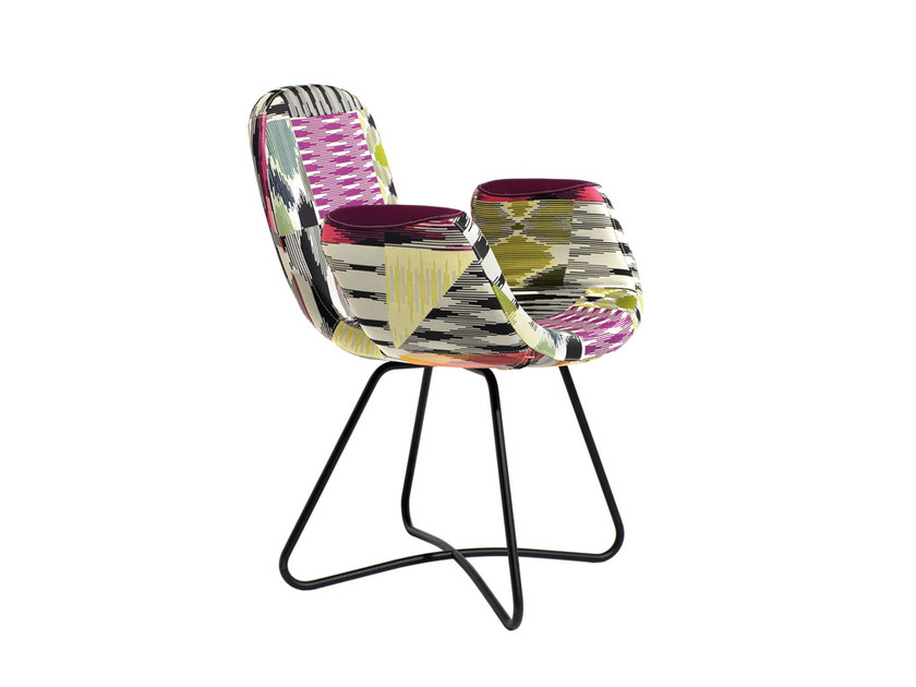 Fabric easy chair with armrests PATCH TWO | Fabric easy chair by MissoniHome
