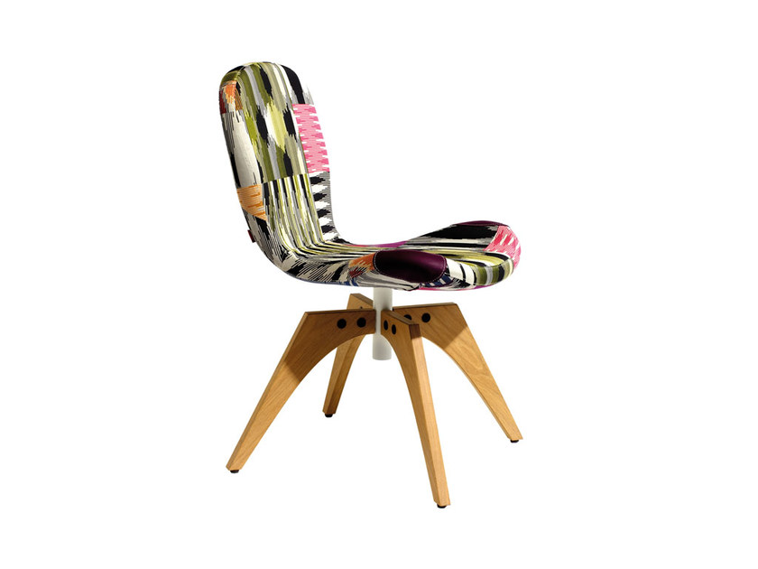 Swivel fabric chair PATCH ONE | Swivel chair by MissoniHome