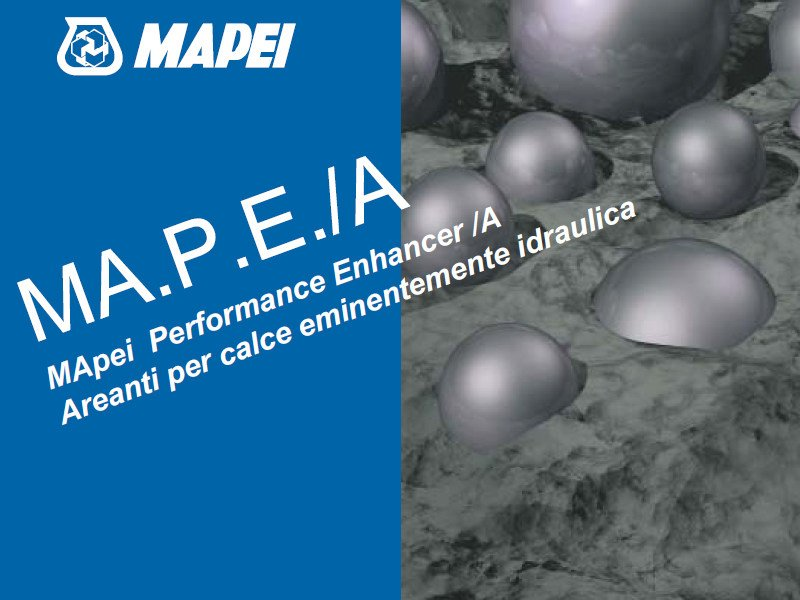 Additive for cement and concrete MA.P.E./A by MAPEI
