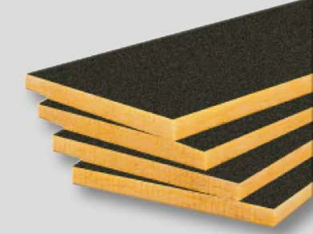 Glass wool Sound insulation and sound absorbing panel in mineral fibre URSA FDP 3/Vr by URSA
