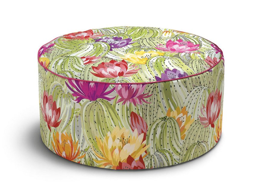 Upholstered fabric pouf with removable lining Pouf by MissoniHome