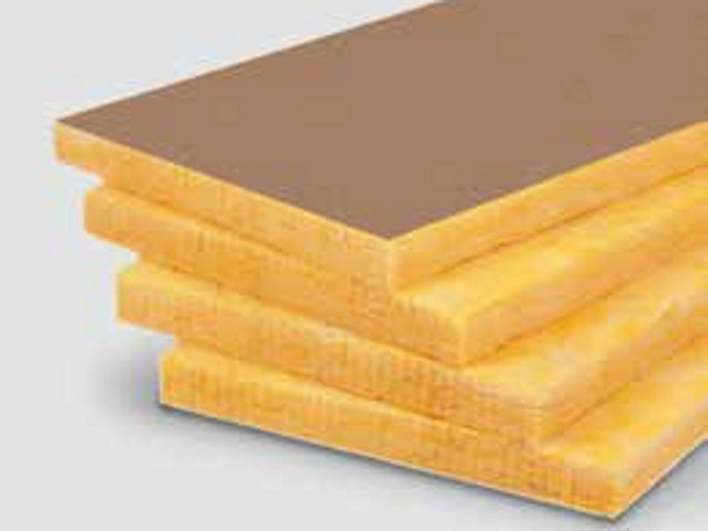Glass wool Sound insulation and sound absorbing panel in mineral fibre URSA FDP5 by URSA