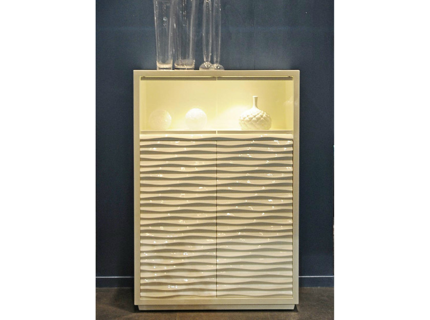 Lacquered highboard with doors EBON | Highboard with doors by CorteZari