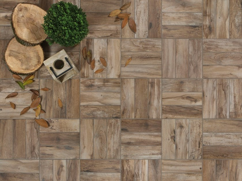 Outdoor floor tiles with wood effect DECKING by Ceramica Rondine