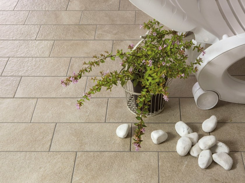 Porcelain stoneware outdoor floor tiles with stone effect JULIA by Ceramica Rondine