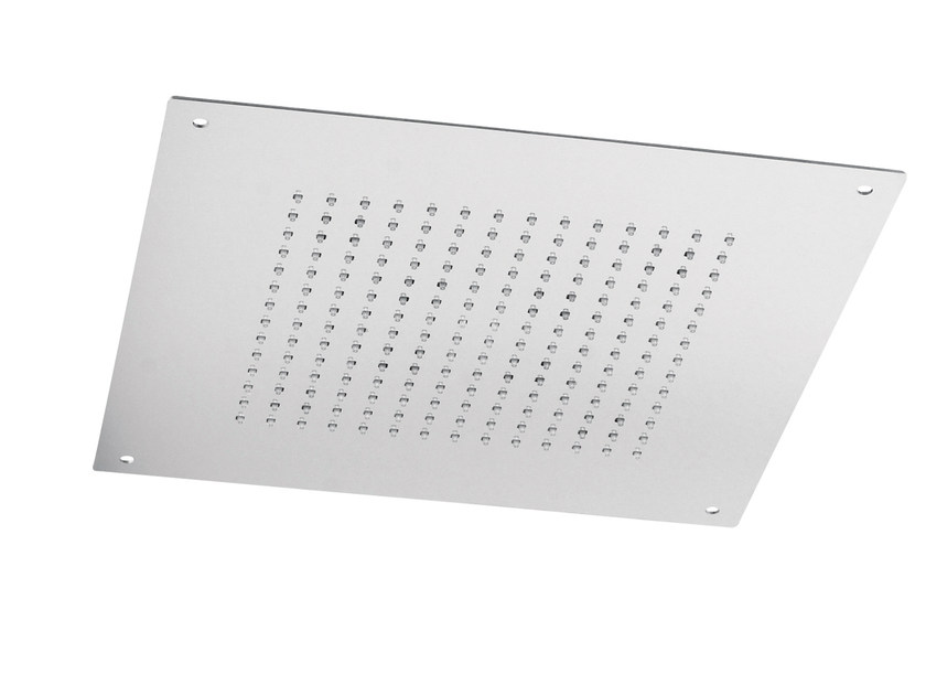 Ceiling mounted built-in stainless steel overhead shower with anti-lime system SQ0-01 | Overhead shower by Rubinetterie Mariani