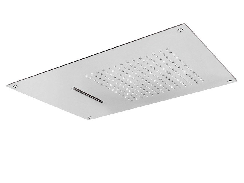 Ceiling mounted built-in stainless steel overhead shower with anti-lime system SQ0-03 | Overhead shower by Rubinetterie Mariani