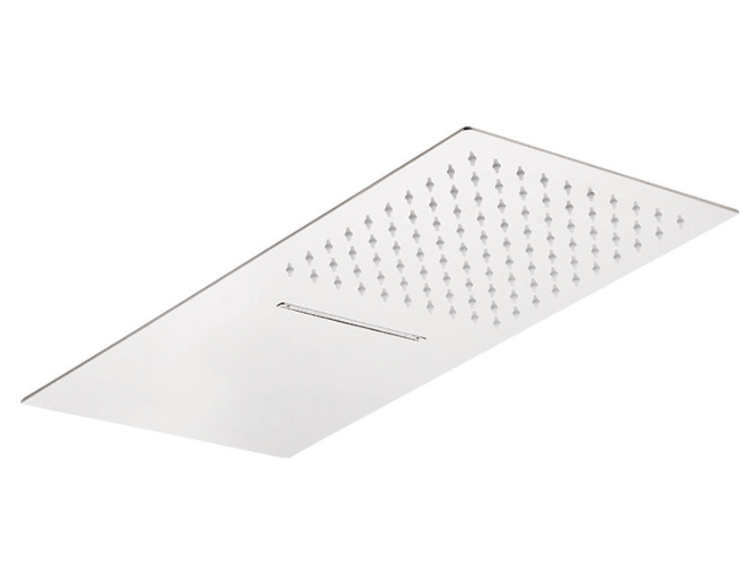 Wall-mounted extra flat stainless steel overhead shower SR0-05 | Overhead shower by Rubinetterie Mariani