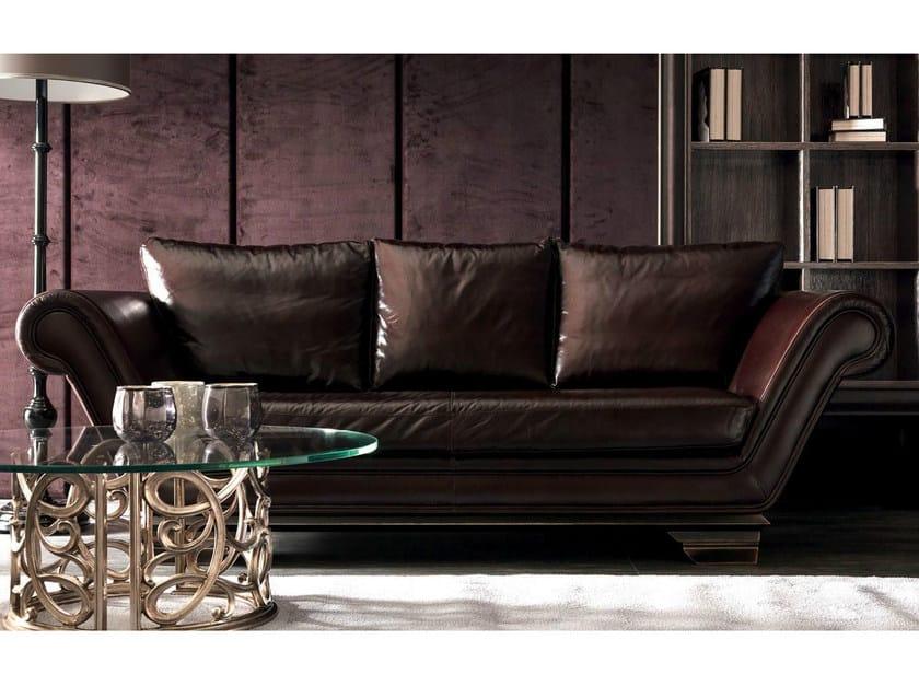 3 seater leather sofa HUGO | Leather sofa by CorteZari