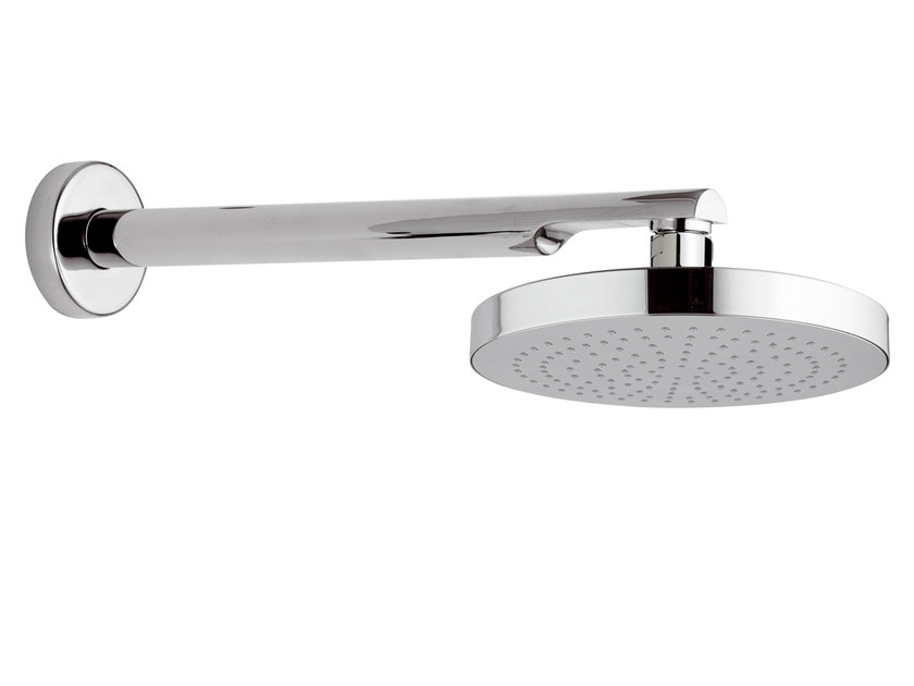 Wall-mounted chrome-plated brass overhead shower 15B-NO   Overhead shower by Rubinetterie Mariani