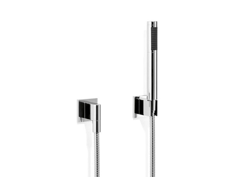 Wall-mounted chrome-plated handshower with hose SYMETRICS by Dornbracht