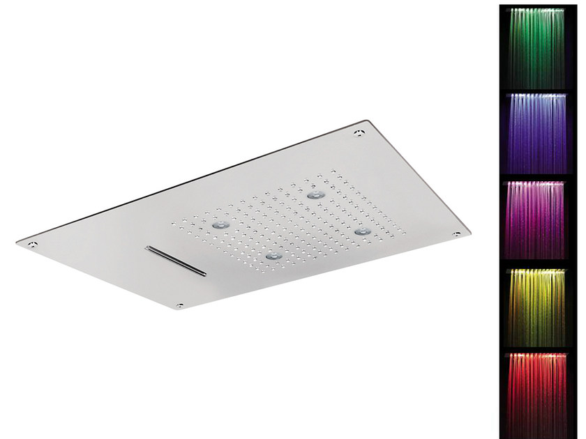 LED built-in overhead shower for chromotherapy SQ0-L6 | Overhead shower for chromotherapy by Rubinetterie Mariani