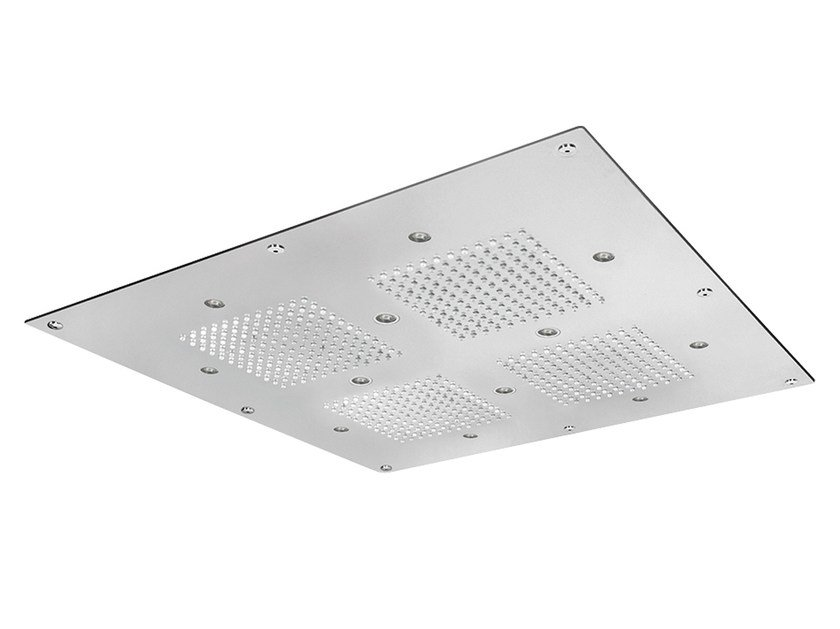 LED built-in overhead shower for chromotherapy SQ0-L3 | Overhead shower for chromotherapy by Rubinetterie Mariani