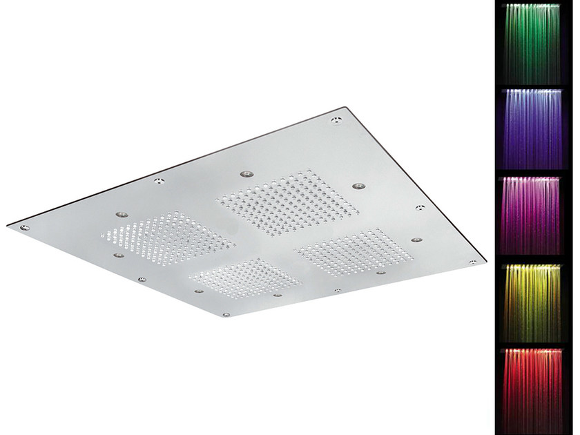 Ceiling mounted built-in overhead shower for chromotherapy SQ0-L4 | Overhead shower for chromotherapy by Rubinetterie Mariani