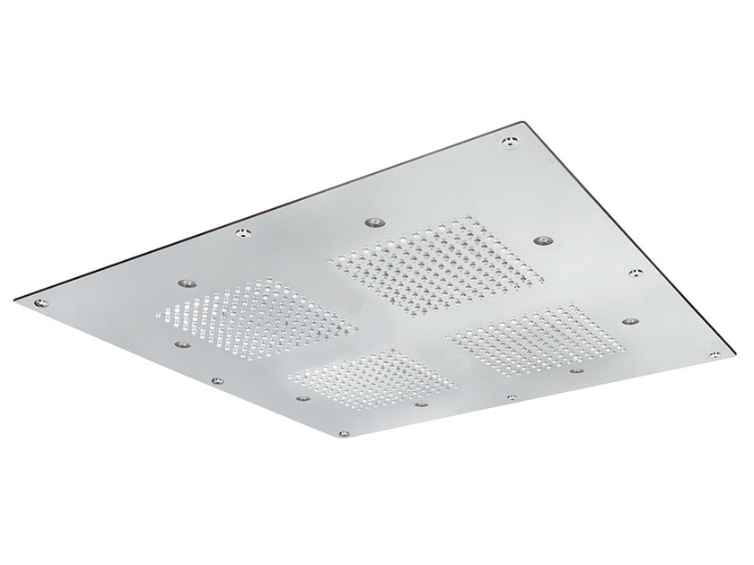 Ceiling mounted built-in overhead shower for chromotherapy SQ0-L5 | Overhead shower for chromotherapy by Rubinetterie Mariani