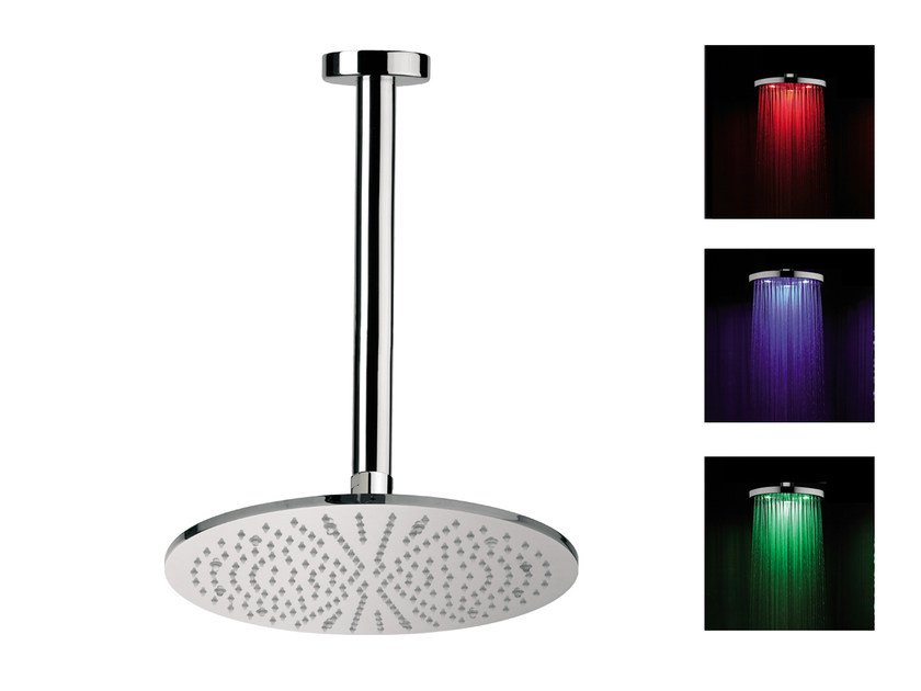 Ceiling mounted overhead shower with arm for chromotherapy 150-L1 | Overhead shower for chromotherapy by Rubinetterie Mariani