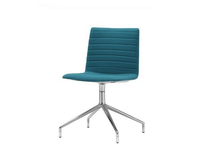 Upholstered chair with 4-spoke base FLEX HIGH BACK | Chair with 4-spoke base by Andreu World