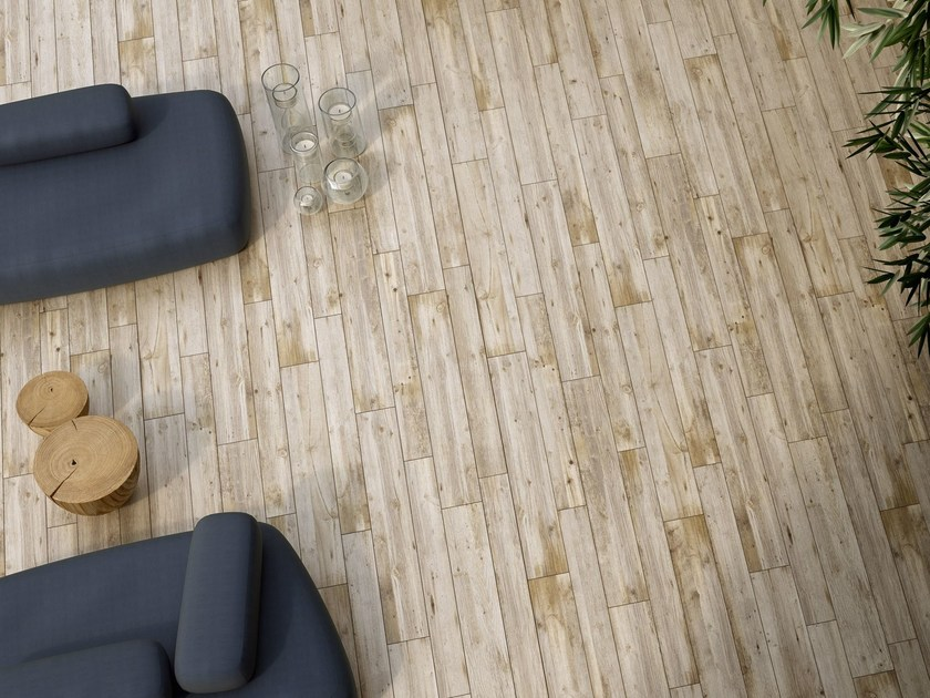Porcelain stoneware flooring with wood effect HIGH TECH WOODS | Quercia bianca by ARIOSTEA
