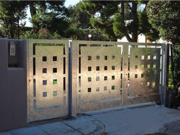 Swing galvanized steel gate Galvanized steel gate by CITYSì recinzioni