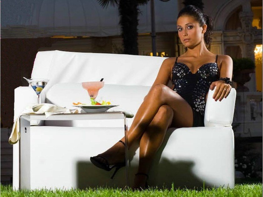 2 seater imitation leather sofa SOFTRONA | Sofa by Trona