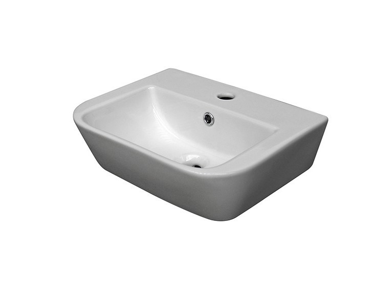 Countertop rectangular washbasin with overflow URBAN | Washbasin with overflow by NOKEN