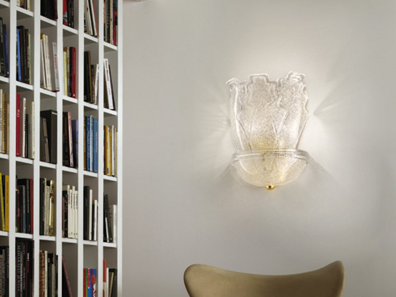 Blown glass wall lamp ACCADEMIA AP 3F by Vetreria Vistosi