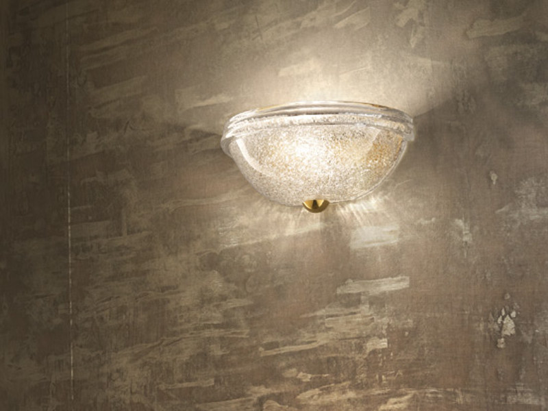 Blown glass wall lamp ACCADEMIA AP 30 by Vetreria Vistosi