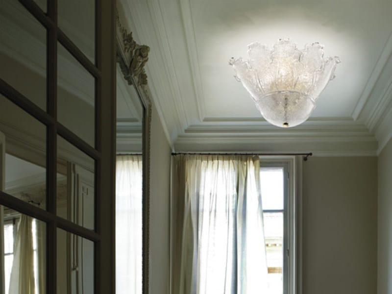 Blown glass ceiling lamp ACCADEMIA PL10F by Vetreria Vistosi