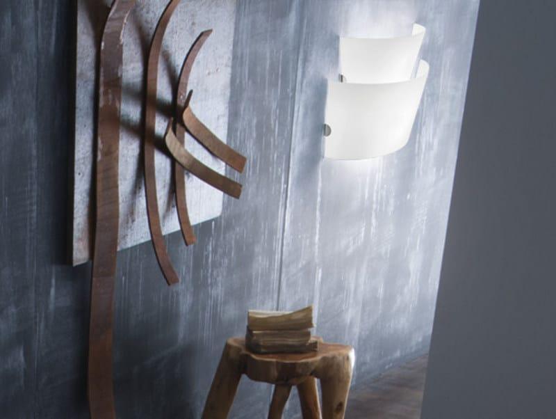 Blown glass wall lamp ALIKI AP 2 by Vetreria Vistosi