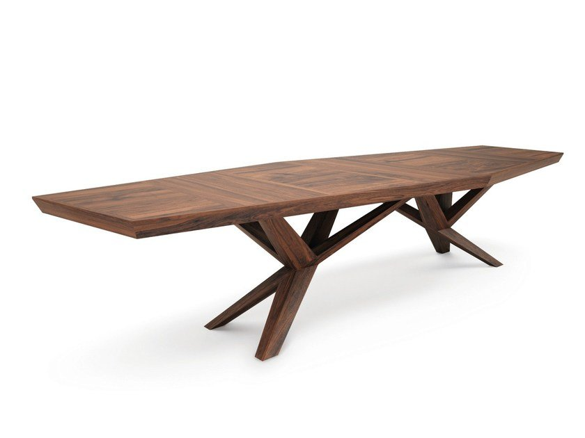 Rectangular wooden meeting table XENIA by Belfakto