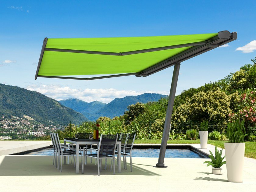 Freestanding Folding arm awning MARKILUX PLANET by markilux
