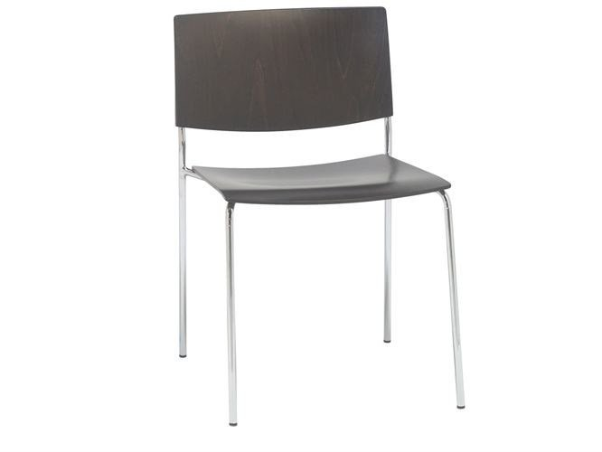 Stackable wooden chair SIT WOOD | Chair by Andreu World