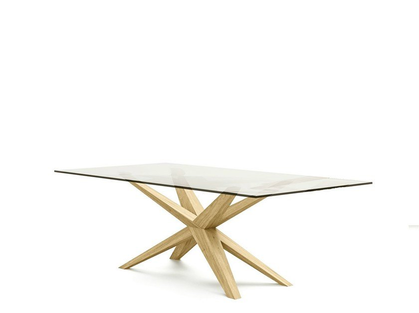 Low coffee table with 4-star base XAVER | Low coffee table by Belfakto
