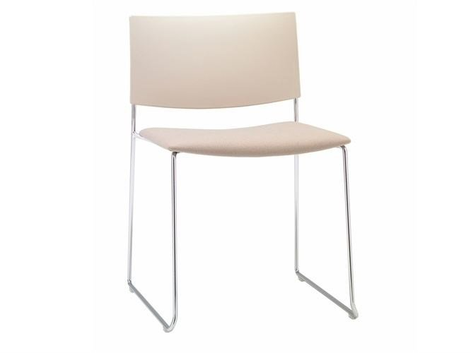 Sled base stackable chair SIT MIX | Sled base chair by Andreu World
