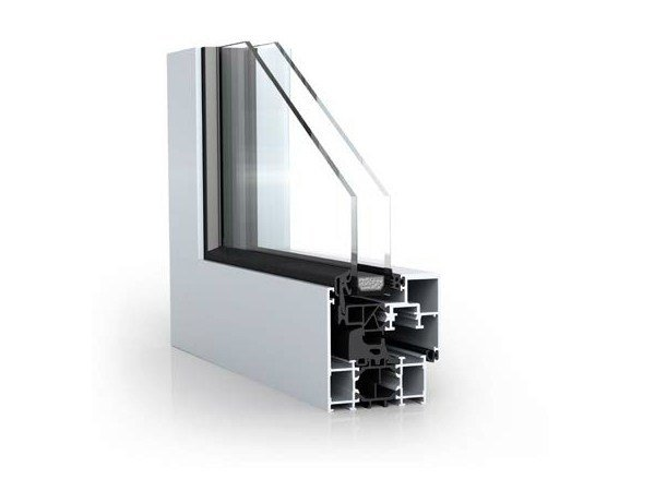 Aluminium window with concealed ash WICLINE 65/75 evo -  Concealed ash by WICONA