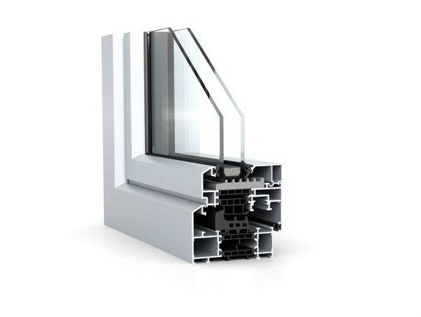 Aluminium Window with bevelled profile contours WICLINE 65/75 evo - Classic Design by WICONA