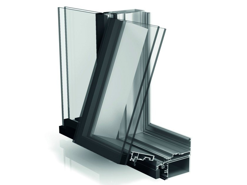 Structural glazing integration sash WICLINE 90SG by WICONA