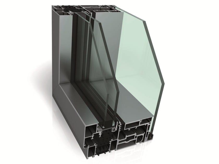 Hybrid window with double skin technology WICLINE 215 by WICONA