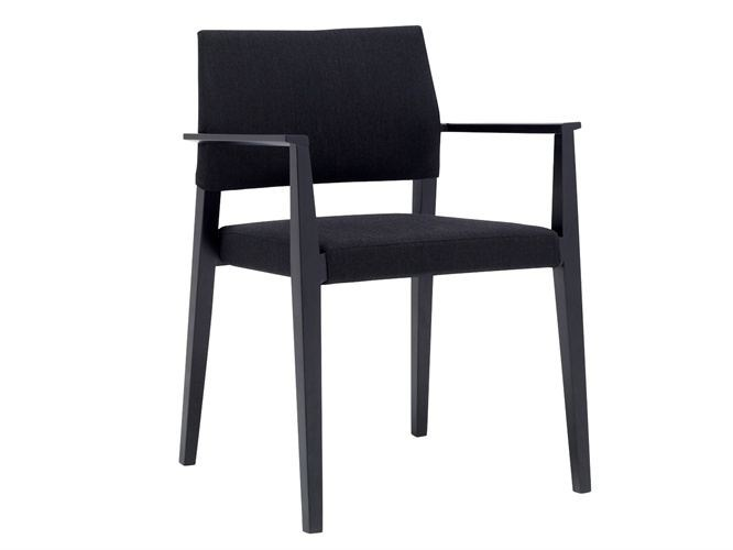 Upholstered stackable chair with armrests VALERIA COMFORT | Chair with armrests by Andreu World