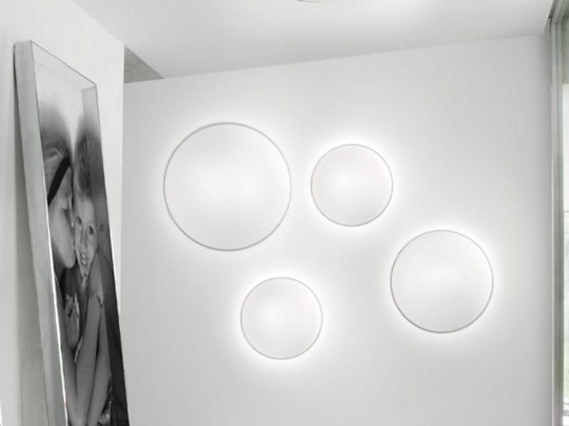 Satin glass wall lamp AURORA PP by Vetreria Vistosi