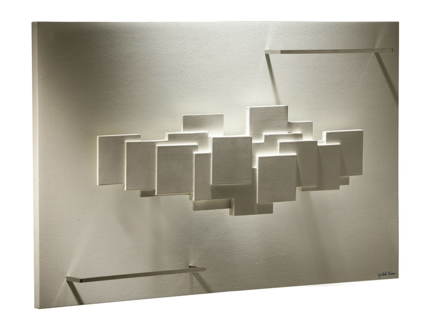 Horizontal Olycale® towel warmer SCULPTURAL BAIN by Cinier