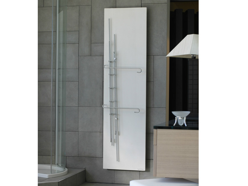 Vertical Olycale® towel warmer FONDATION by Cinier