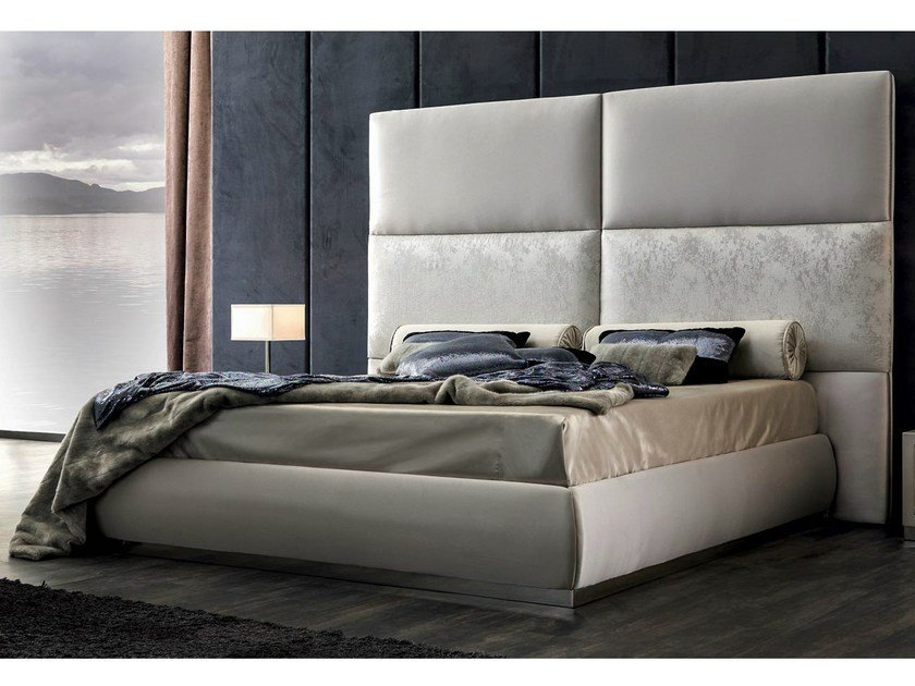 Upholstered bed with high headboard THARA by CorteZari