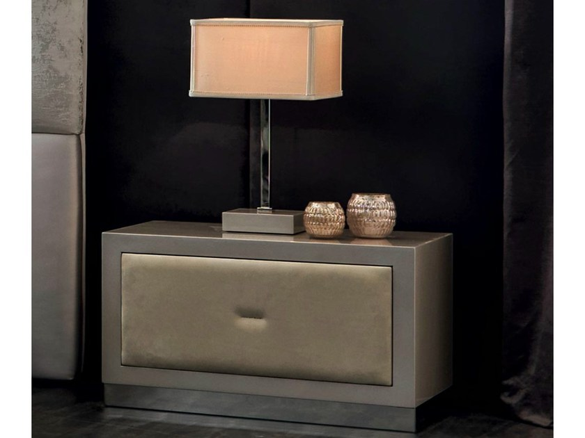 Rectangular bedside table with drawers KEOPE-SOFT | Bedside table by CorteZari