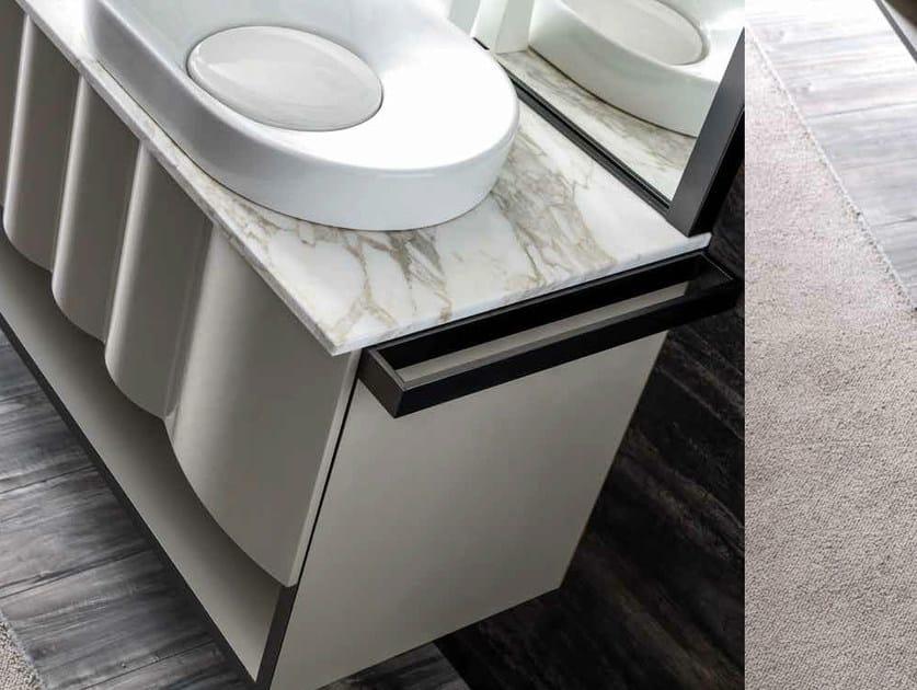 Contemporary style metal towel rack QUADRA | Towel rack by CorteZari