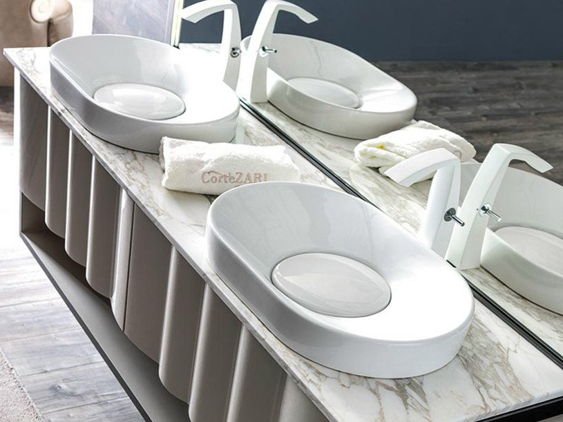 Countertop oval ceramic washbasin LEON | Washbasin by CorteZari