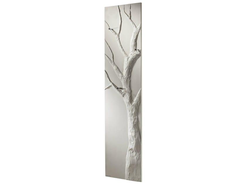Vertical Olycale® towel warmer ARBRE BLANC by Cinier